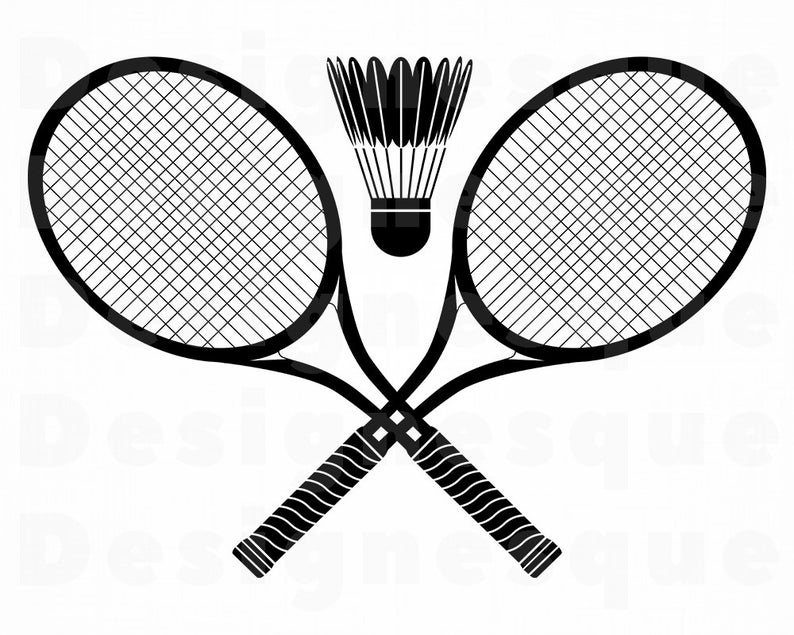 Svg files for cricut. Badminton clipart