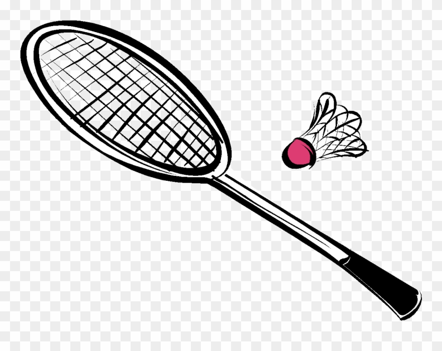 Collection of equipments drawing. Badminton clipart