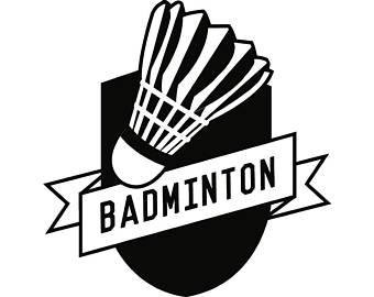 Badminton clipart. Etsy logo birdie racket
