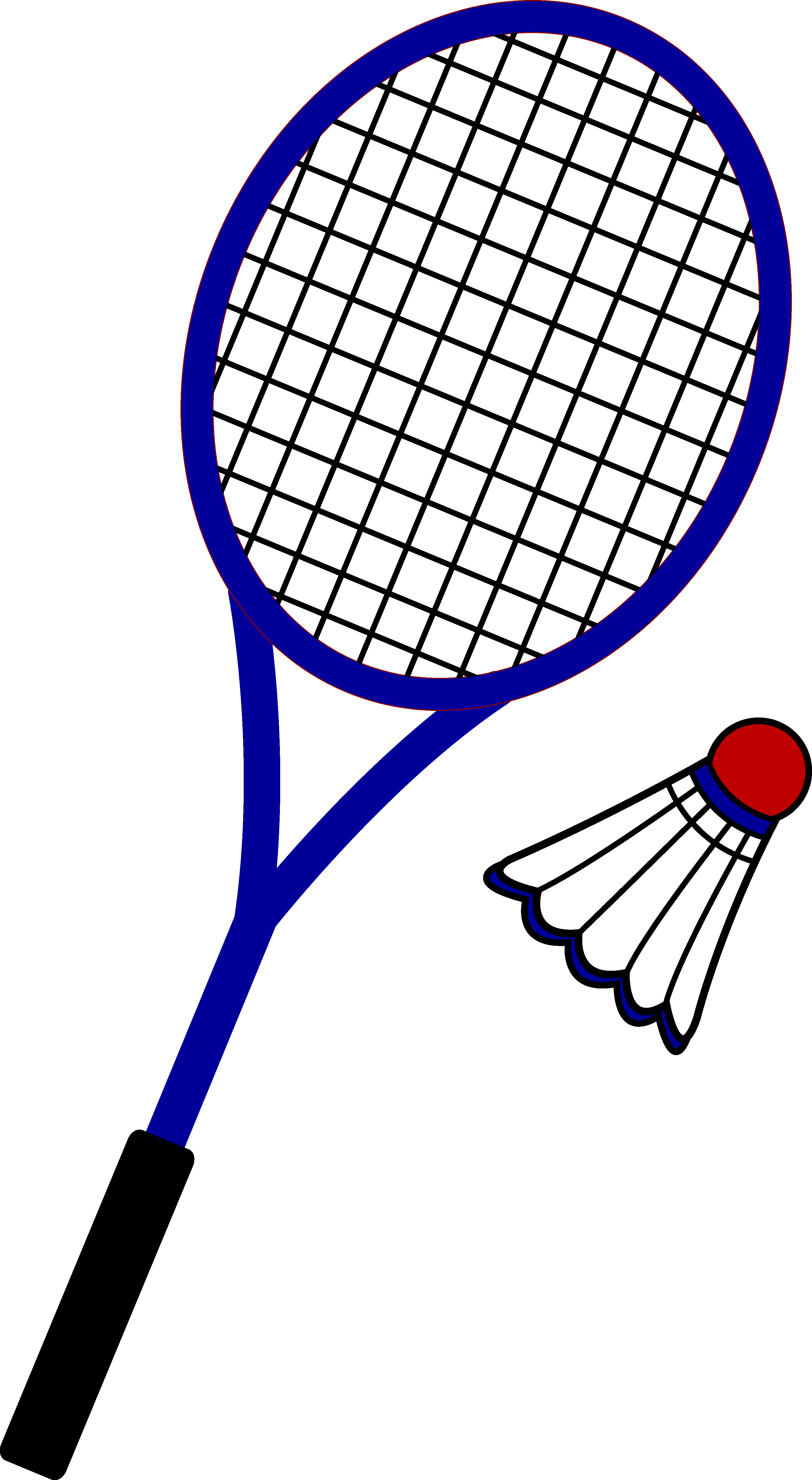 Badminton clipart. Racquet and birdie free