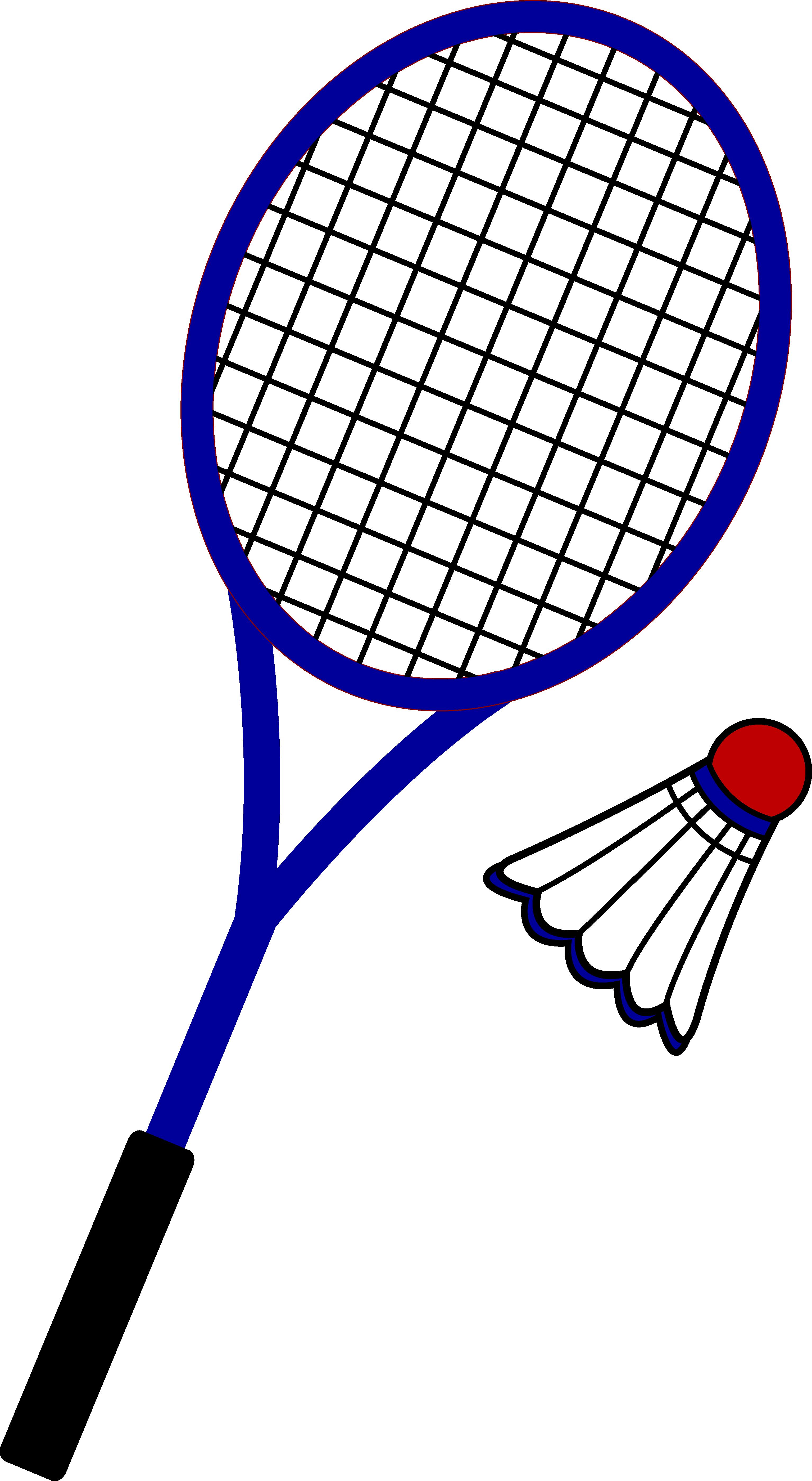 Words clipart tennis. Badminton racquet and birdie