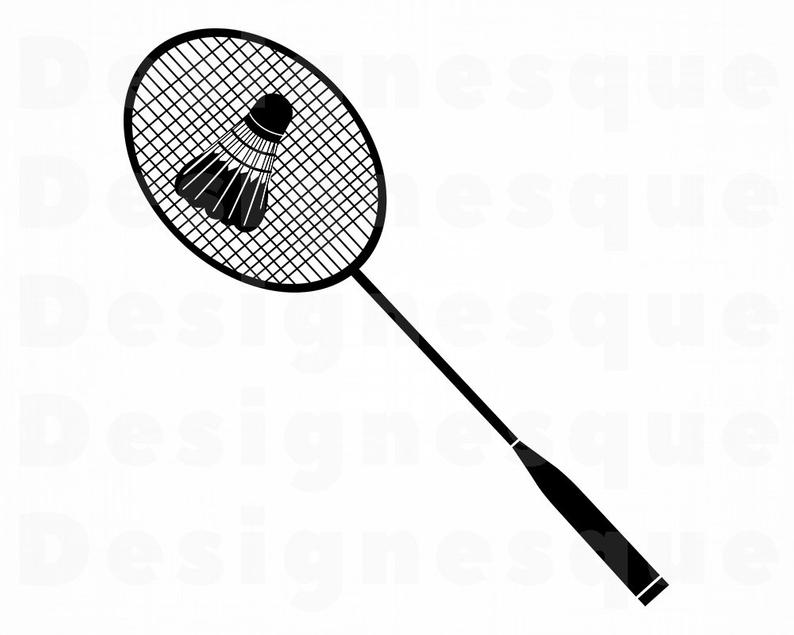 Badminton clipart. Svg files for cricut