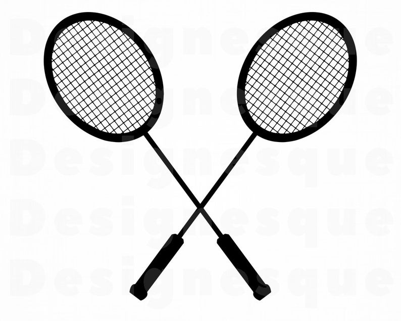 Badminton clipart. Logo svg files for
