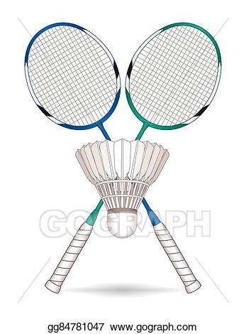 Badminton clipart badminton equipment. Vector racquets rackets shuttle