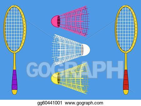 Stock illustration for the. Badminton clipart badminton equipment