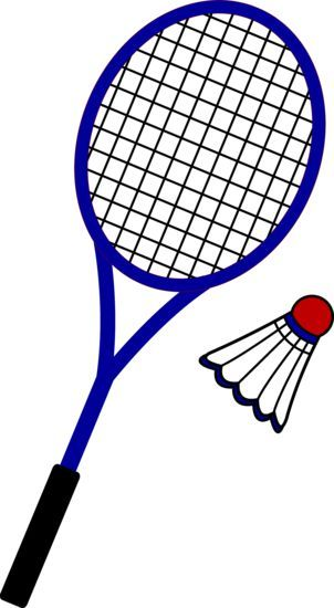 Badminton clipart badminton equipment. Racquet and birdie manjil