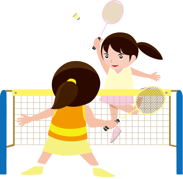 Girl pencil and in. Female clipart badminton player