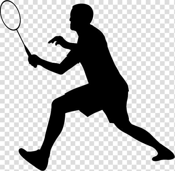 Badminton clipart badmitton. Silhouette transparent background png