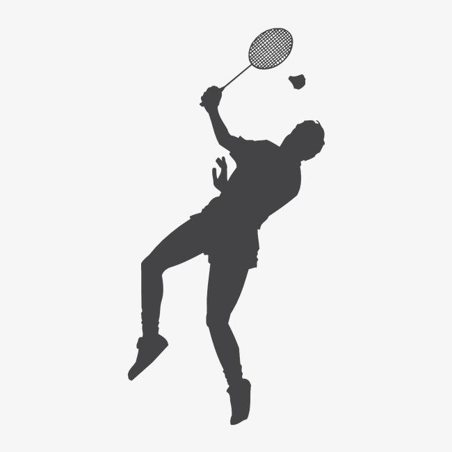 Black and white movement. Badminton clipart badmitton