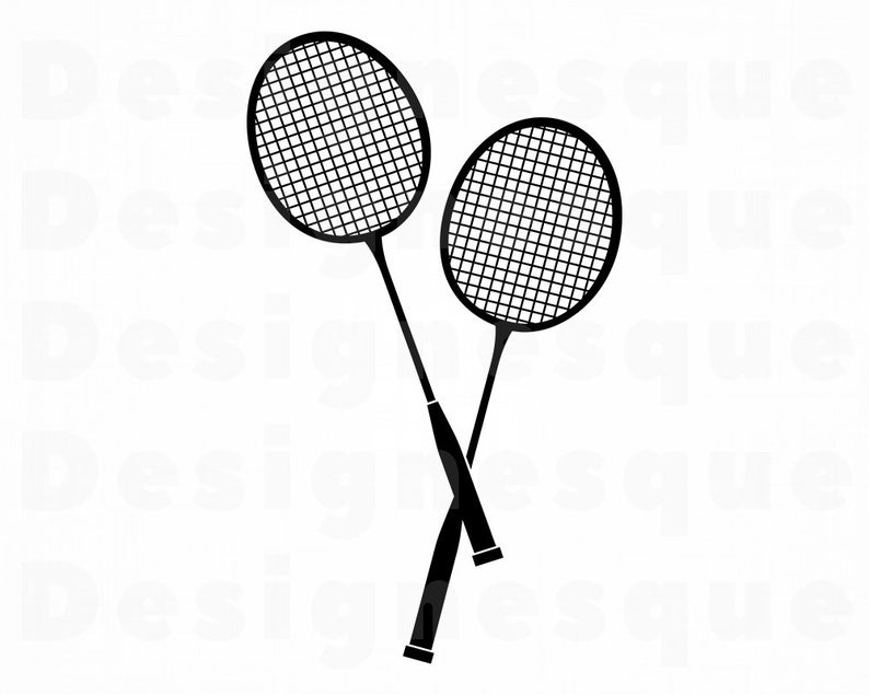 Svg files for cricut. Badminton clipart badmitton