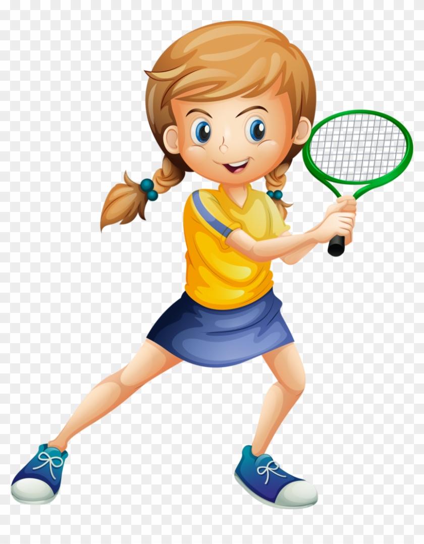 Badminton clipart badmitton. Girl player cartoon playing