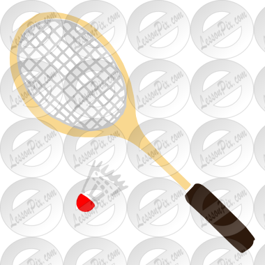 Stencil for classroom therapy. Badminton clipart ball badminton