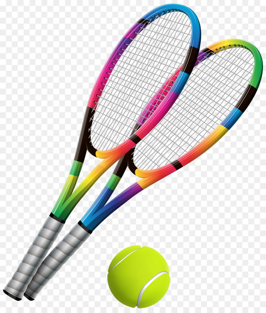 Cartoon tennis . Badminton clipart ball badminton