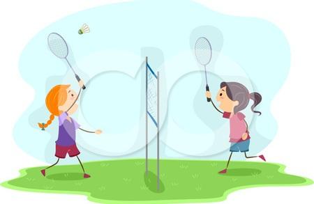 Badminton bermain