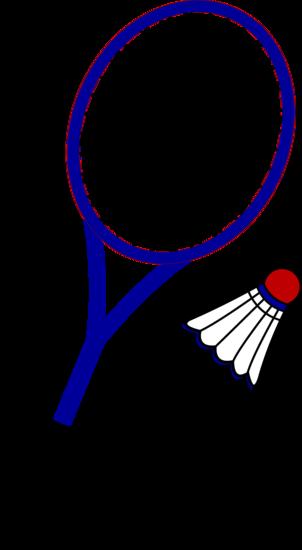 Athlete clipart badminton. Racquet and birdie free