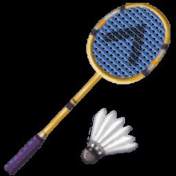 Racquet for facebook email. Badminton clipart emoji