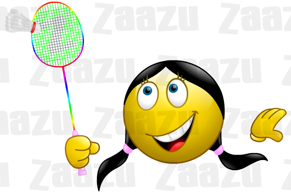 Smajl ci ksicht ky. Badminton clipart emoji