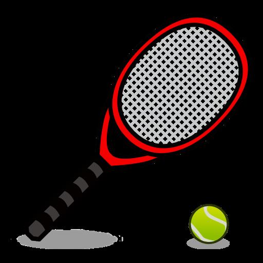Tennis racquet and ball. Badminton clipart emoji