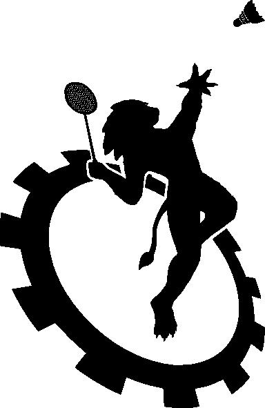 Badminton clipart gambar. Logo club ecole centrale