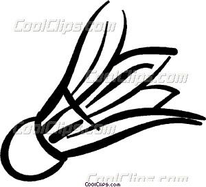 Birdie vector clip art. Badminton clipart gambar