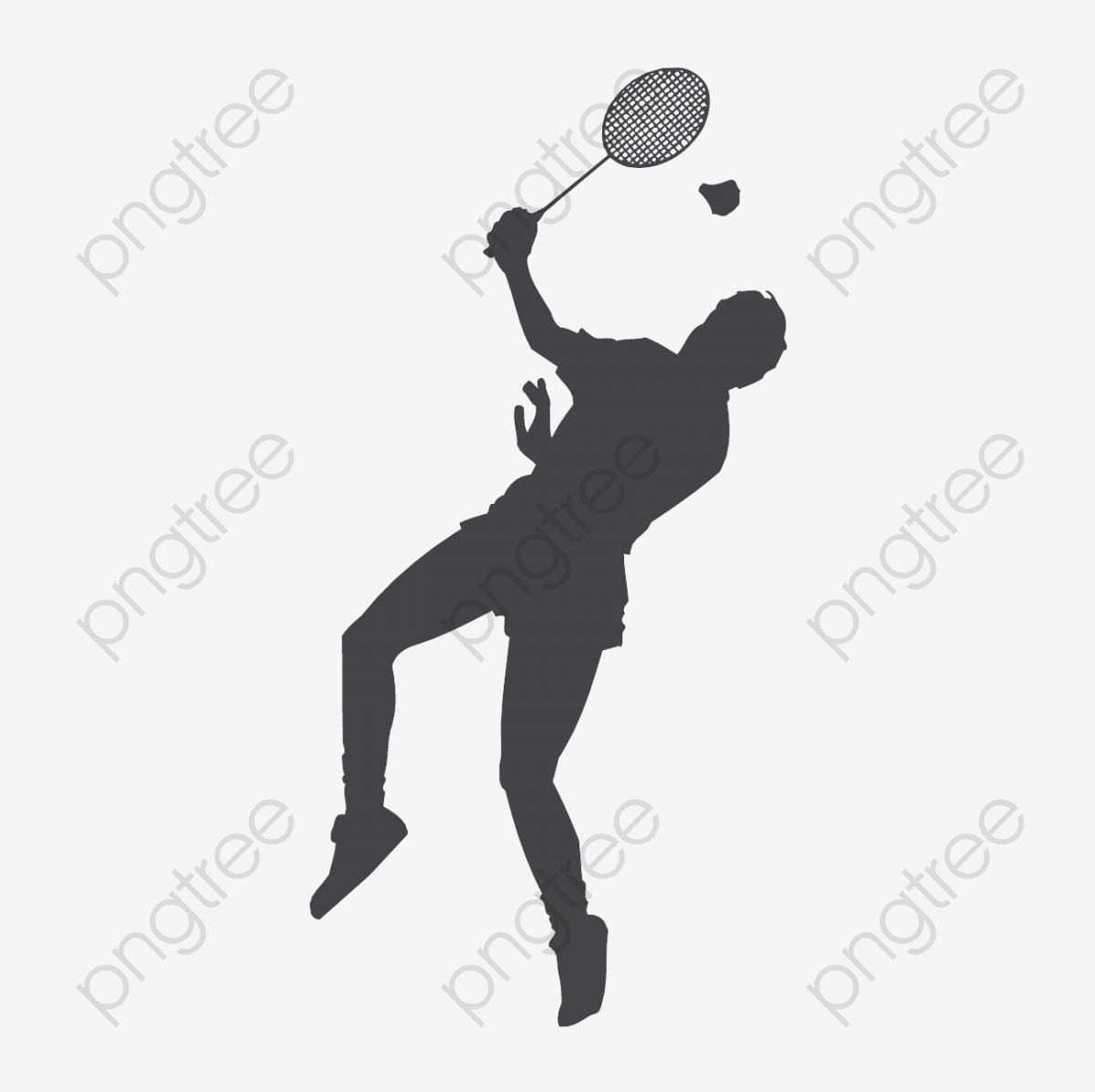 Badminton clipart jump smash. Download for free png