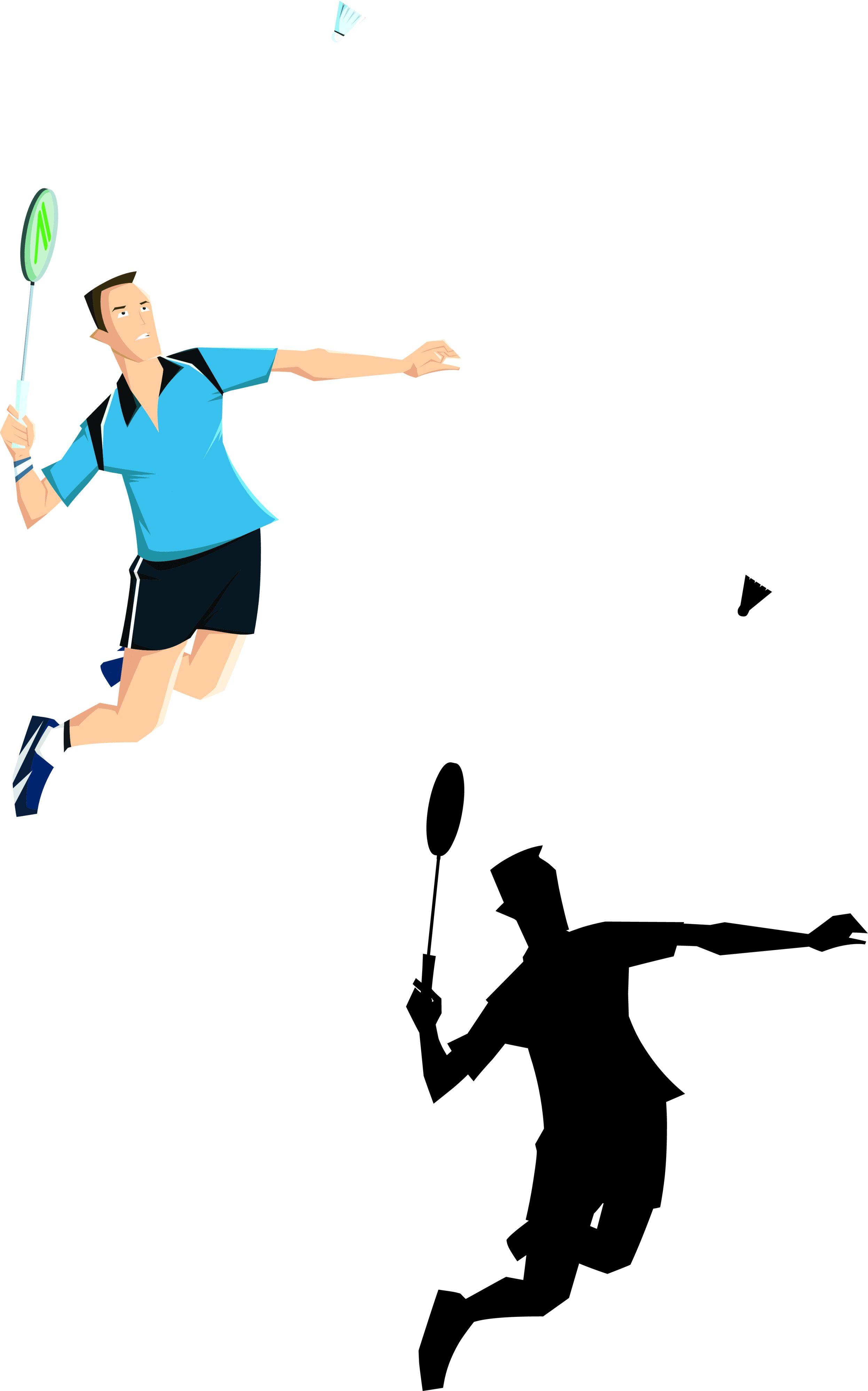 Badminton clipart jump smash. Cartoon pinterest