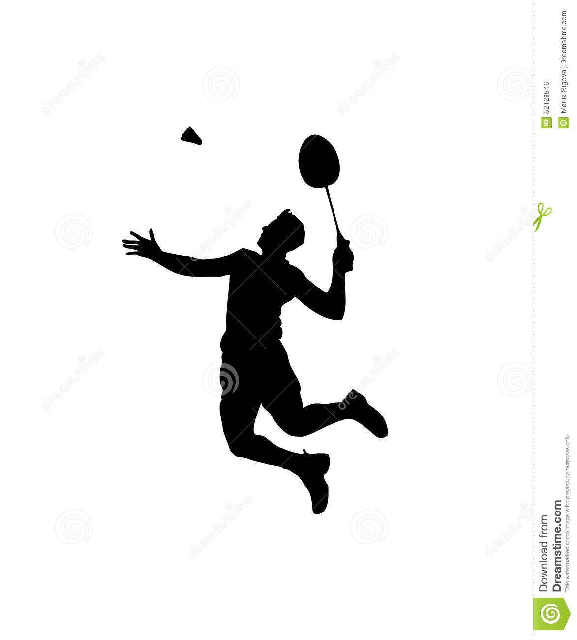 collection of player. Badminton clipart jump smash