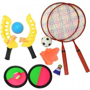 Childrens in football catch. Badminton clipart outdoor game badminton