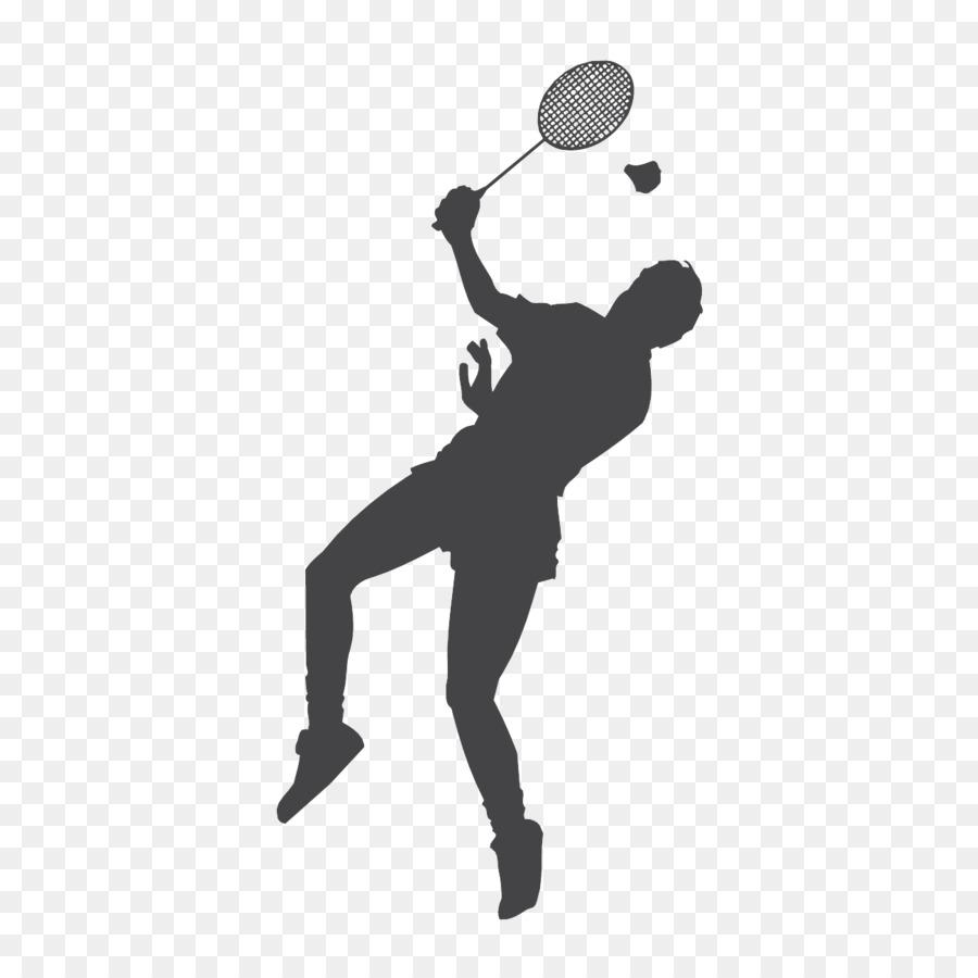 Racket shuttlecock smash clip. Athlete clipart badminton