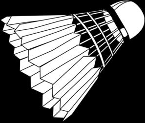 Clip art at clker. Badminton clipart shuttlecock