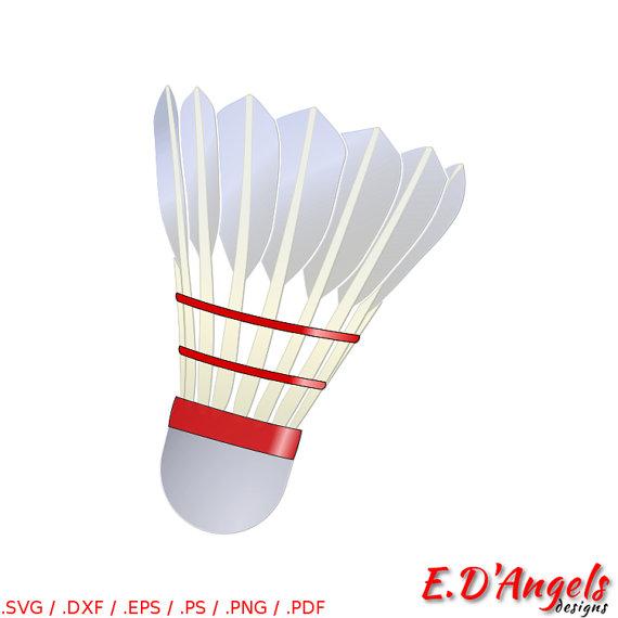 Svg files for cricut. Badminton clipart shuttlecock