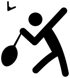 Recreation sports icons available. Badminton clipart sport badminton