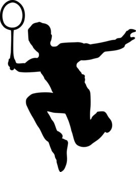 Sports awards silhouette . Badminton clipart sport badminton