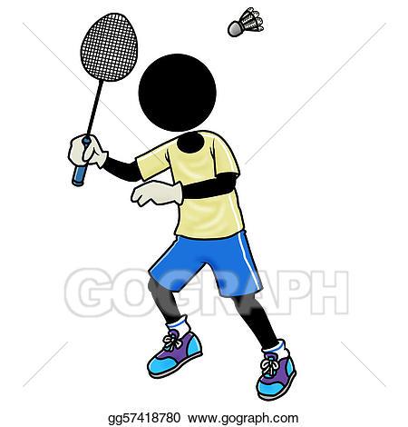 Badminton clipart sport badminton. Drawing player gg gograph
