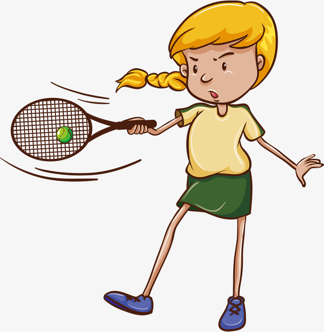 Middle school girls student. Badminton clipart tennis game