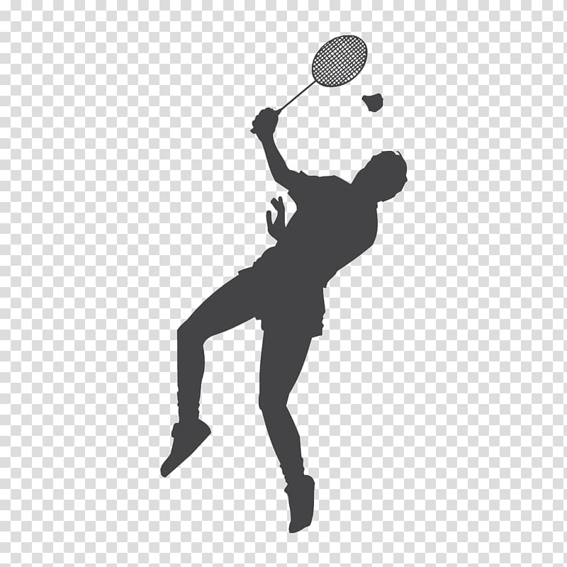 Badminton clipart tennis game. Silhouette of player racket