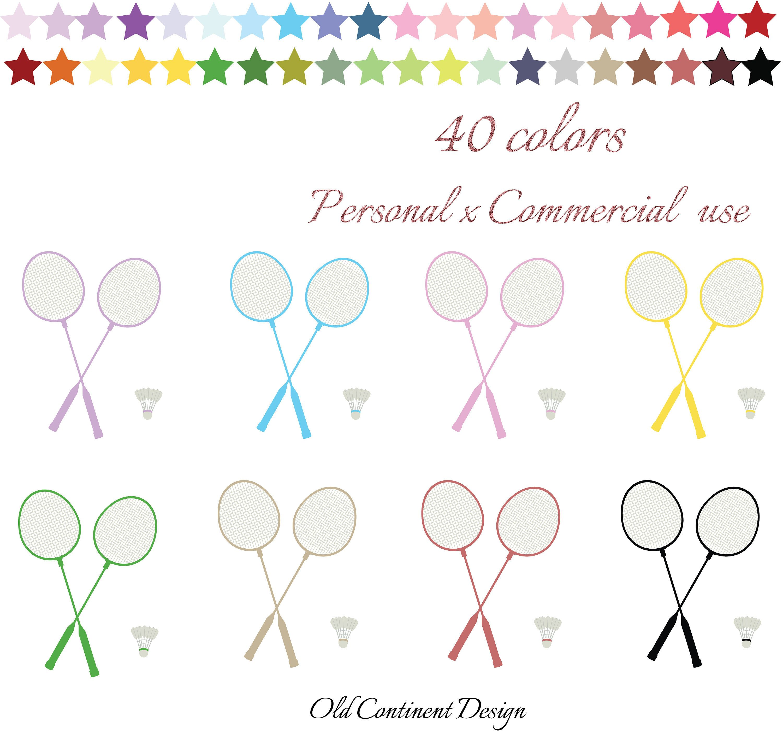 Printable racket . Badminton clipart tennis game