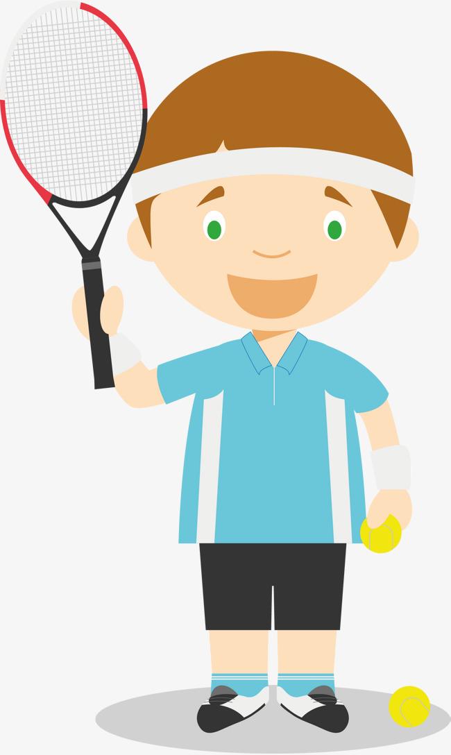 Badminton clipart vector. Male player lovely children