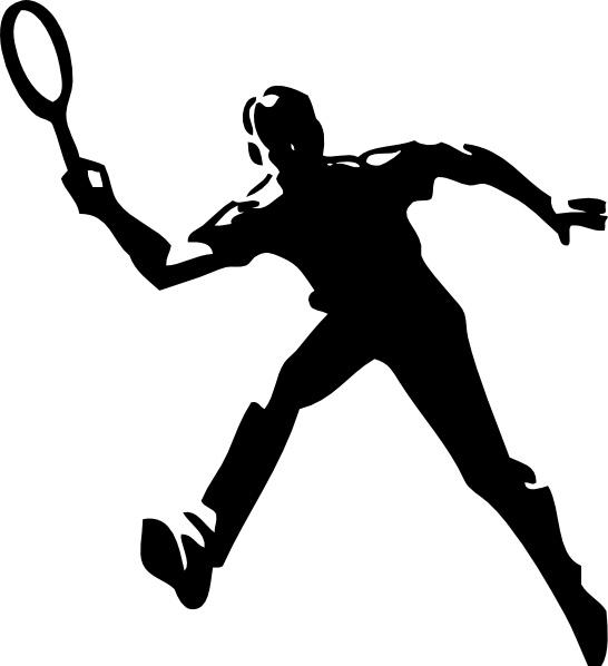 Tennis player clip art. Badminton clipart vector