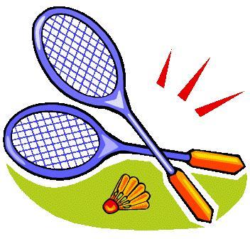 . Badminton clipart