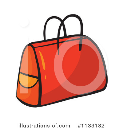 Bag clipart. Illustration by graphics rf