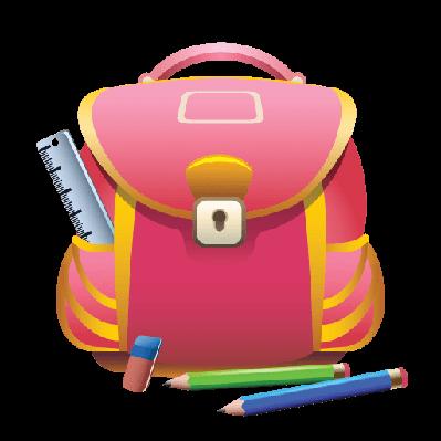 School and pencils pbs. Bag clipart