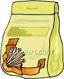 Bag clipart animated. Of take out food