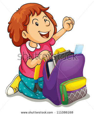 collection of unpack. Bag clipart animated