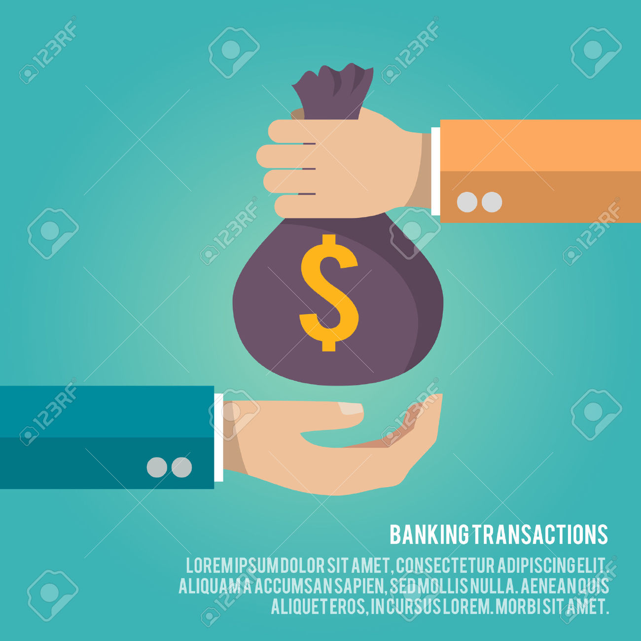 Of banker giving bags. Bag clipart animated