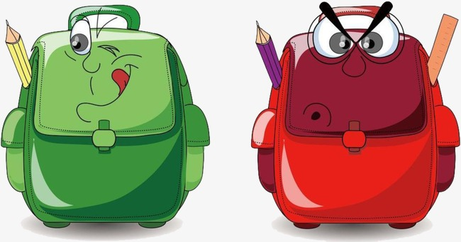 Bag clipart animated. School cartoon schoolbag pupils