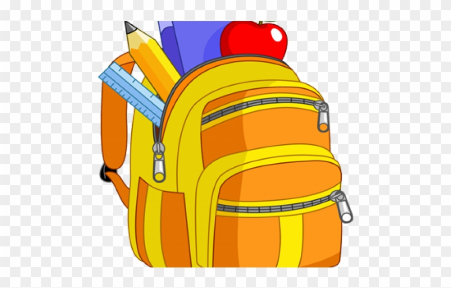 Purse free book bag. Bookbag clipart cartoon