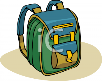 Pencil and in color. Bag clipart animated