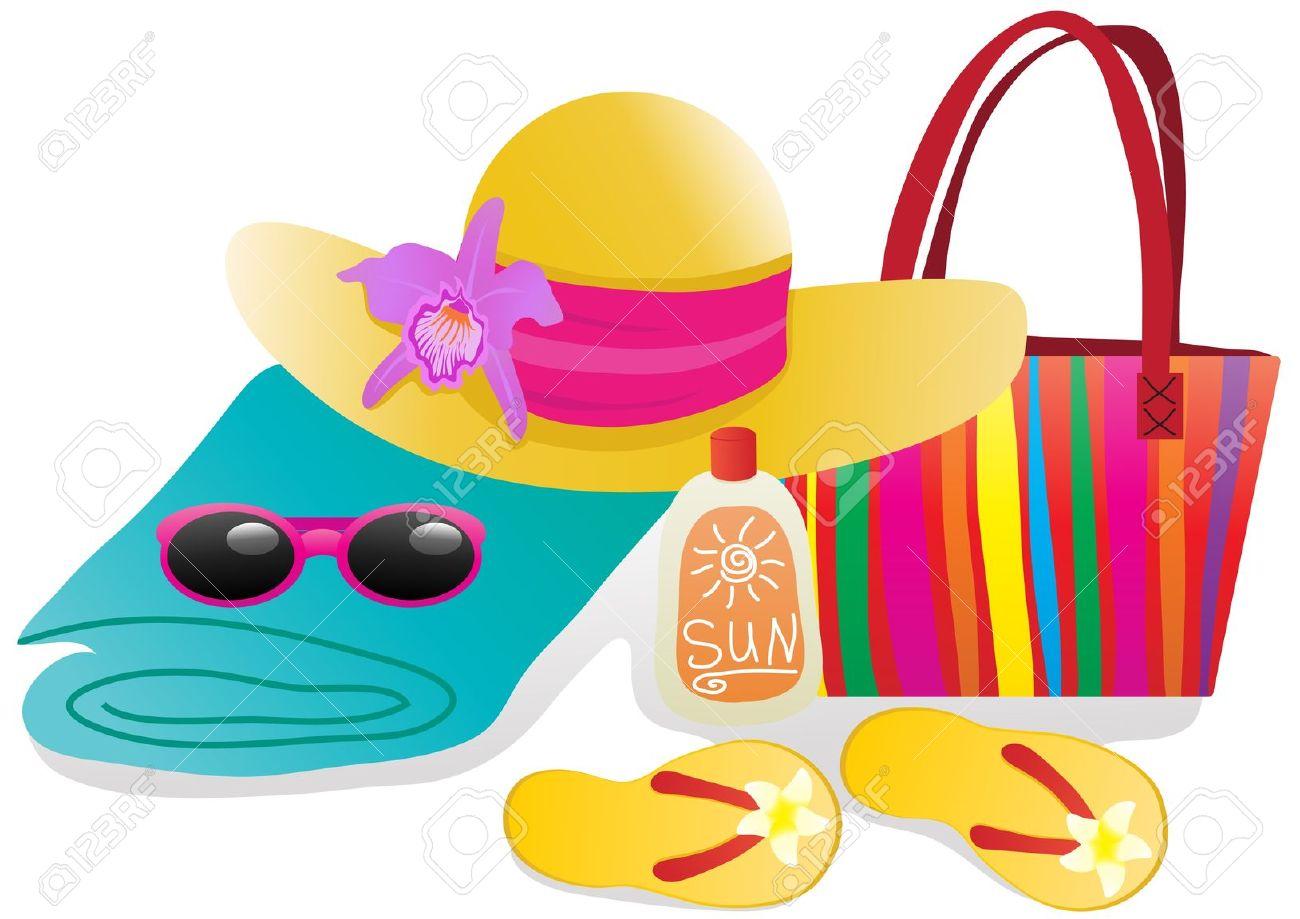 Summer . Bag clipart beach bag