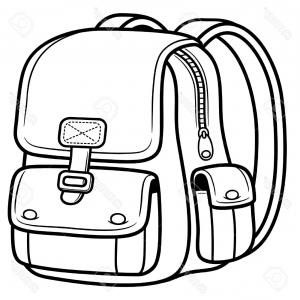 School bags drawing at. Bag clipart black and white